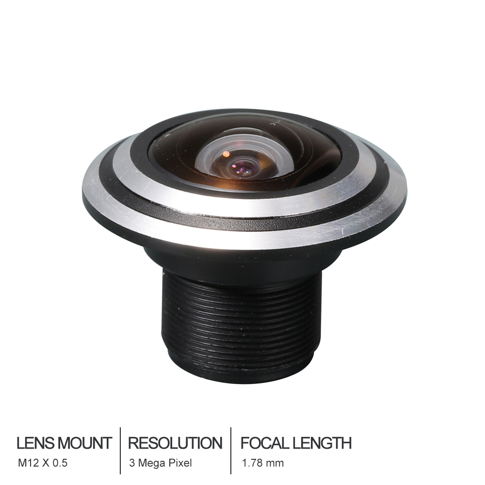 Witrue Fisheye Lens CCTV Lens 3MP 1.78mm  M12  170 Degree Wide Viewing Angle F1.8 1/3