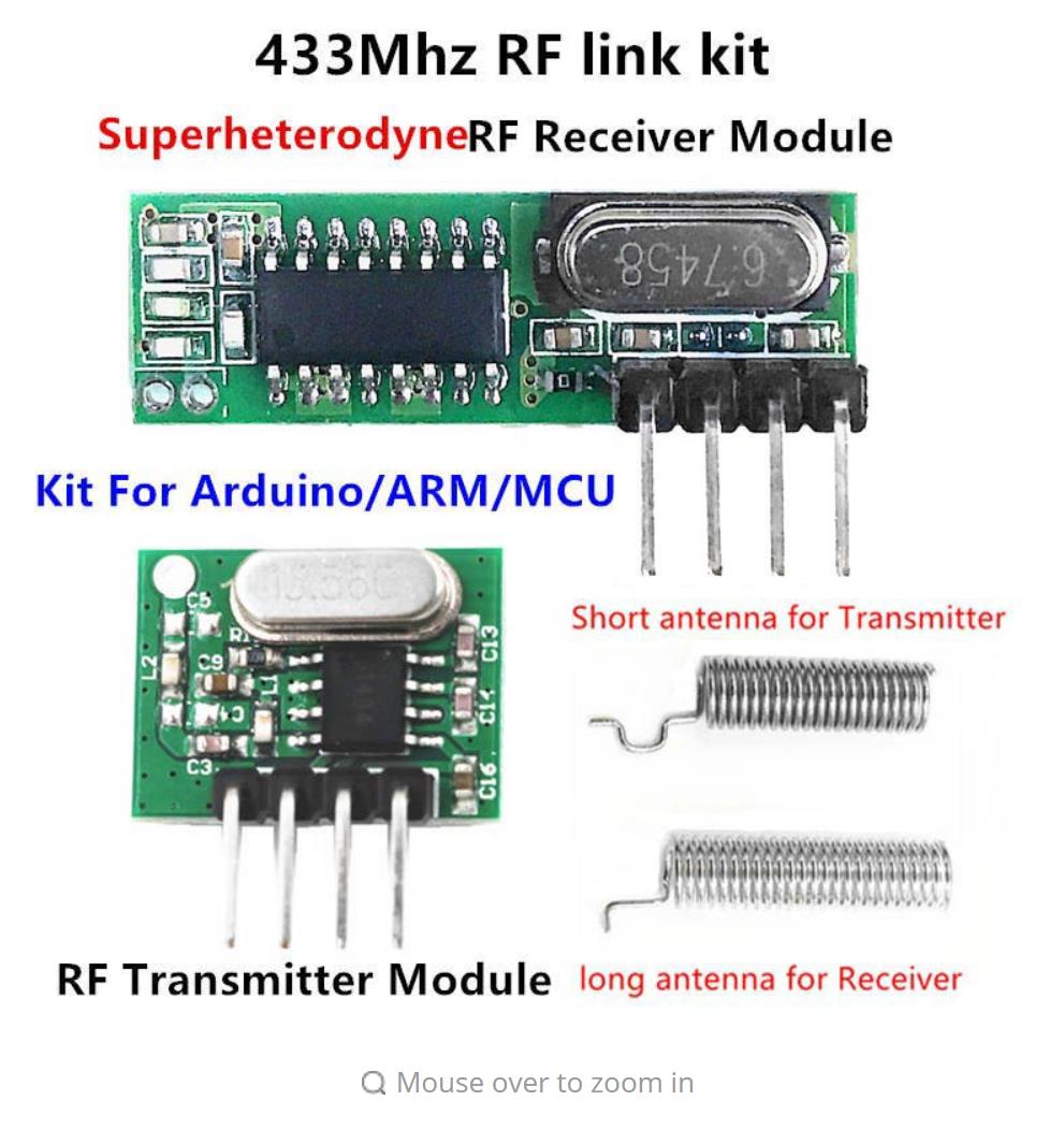 433 Mhz Superheterodyne Rf Receiver And Transmitter Module For 433mhz Circuit Arduino Uno Wireless Diy Kits Remote Controls In From Consumer