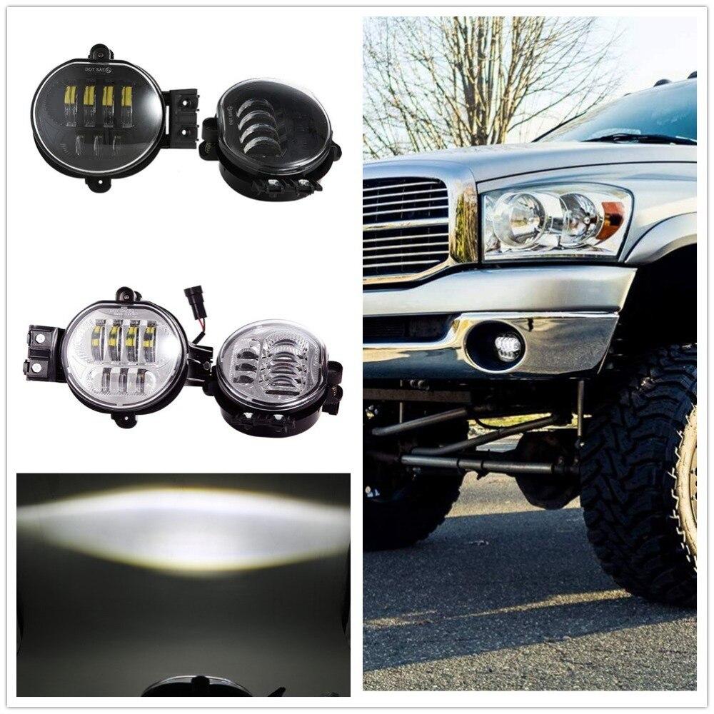 DOT 63W Led Fog Lights For Dodge Ram 1500 2002-2008 Dodge Ram 2500 3500 2003-2009 Dodge Durango 2004-2006 Car Driving Light