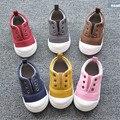 Nuevo 2016 Del Bebé Del Resorte de Lona de los Zapatos Ocasionales Suaves de Alta Calidad Niña Niño Primeros Caminante Niños Zapatos de Color Caramelo #2920
