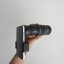 Sale 1Pcs HD Night Vision Universal 16X52 Single Phone Telescope Lens for Samsung Galaxy S6 S7 edge Phone Camera+cilp Drop Shipping