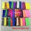 Venta caliente 36 unids/set 15 g/bolsa de secado de aire diy maleable fimo polymer bloques de arcilla de modelado suave niños plastilina plastilina polímero juguete