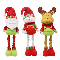 Retractable Christmas Santa Claus/Snowman/Elk Dolls Standing Navidad Figurine Christmas tree Ornaments Kids Gifts Toy P20