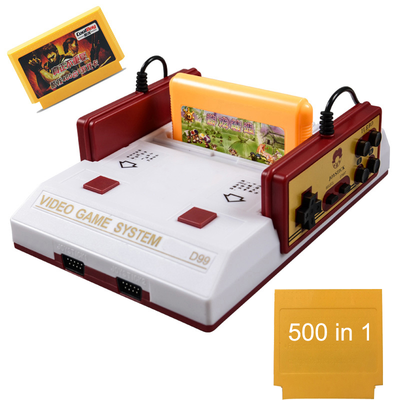 US plug High Qunity Classical family game box TV game console 8bit TV game 80 yesrs after console with 400 different game image