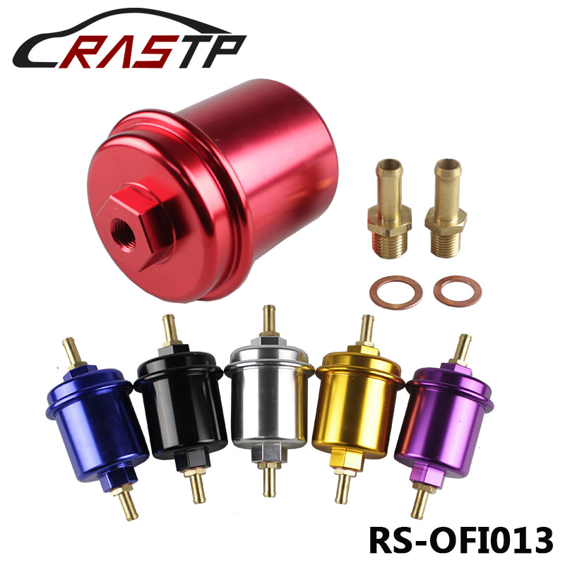 RASTP-High Quality Universal Aluminum High Flow Performance Fuel Filter Washable RS-OFI013