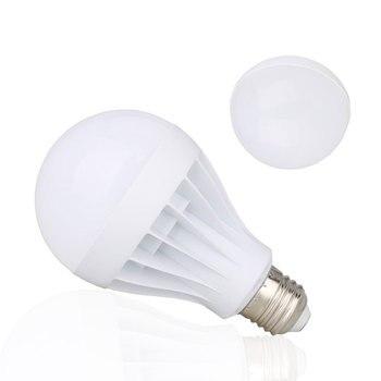 цена на 10PCS/Lot LED Bulb E27 3W 5W 7W 9W 12W SMD 5730 Real Power Led Light Bulb AC 85-265V 220V Cold Warm White Led Spotlight Lamp