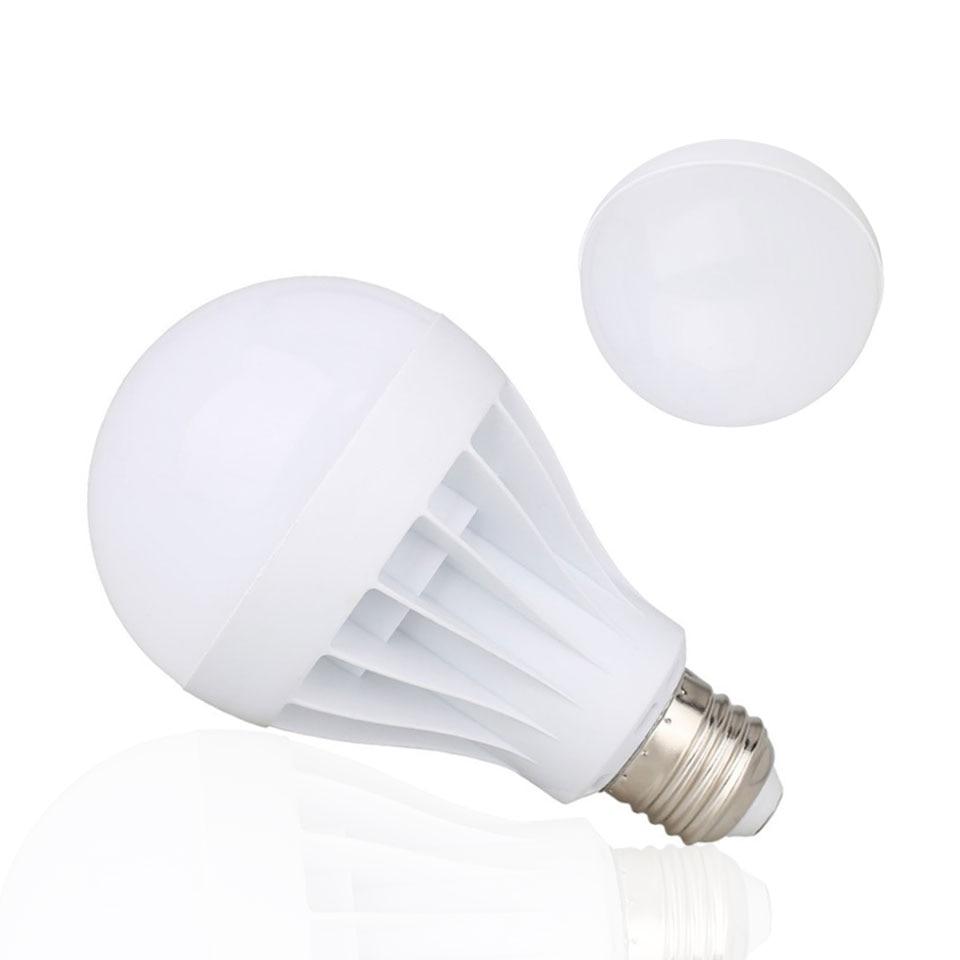 10PCS/Lot LED Bulb E27 3W 5W 7W 9W 12W SMD 5730 Real Power Led Light Bulb AC 85-265V 220V Cold Warm White Led Spotlight Lamp