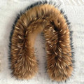 80cm Long Real Raccoon Fur Collar Ring Scarf Female100% Natural Genuine Raccoon Fur Collar for Winter Coat Clothing Accessories