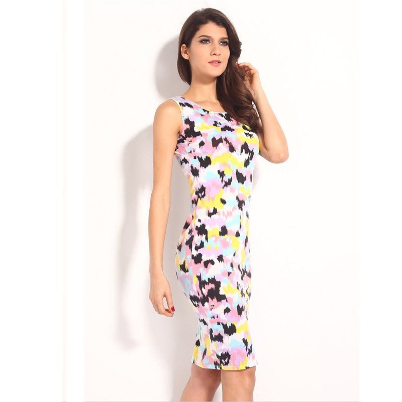 46af93e6a0b8 Women Summer Dresses 2015 Summer Sexy Mini Dress Bandage Bodycon Dress O  Neck Printed Floral Dress Free Shipping-in Dresses from Women s Clothing on  ...