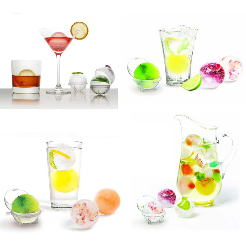 4pcs/set 3.5cm Plastic Ice Cube Ball Brick Maker Tray Round Mold Ice Mould Bar DIY Cooling Tools hot search