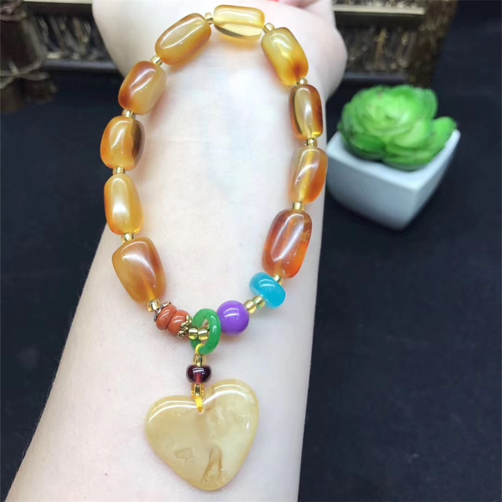 Handmade Diy Brand Jewelry Multi Color Noble Natural Stone Geometric Beads Love Charms Bracelets 2018 Women Gifts For New Year kiind of new blue women s xl geometric printed sheer cropped blouse $49 016