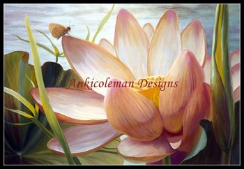 Needlework for embroidery DIY French DMC High Quality - Counted Cross Stitch Kits 14 ct Oil painting - Lotus Landing
