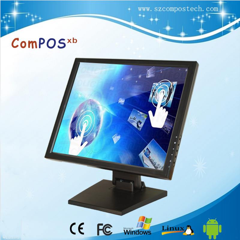 Composxb Super-big Screen 17 inch LCD touch screen monitor for pos terminal/KTV/hotel цена