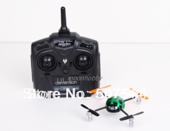 Walkera QR New Ladybird V2 UFO Quadcopter with devo 4 transmitter Ready to fly Free Shipping
