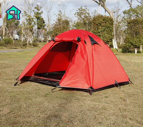 StarHome Outdoor Tent Camping 2 Person Aluminium Pole Waterproof 3000mm Hiking 2.4kg Ultralight Double Layers Tent Travel outdoor camping hiking automatic camping tent 4person double layer family tent sun shelter gazebo beach tent awning tourist tent