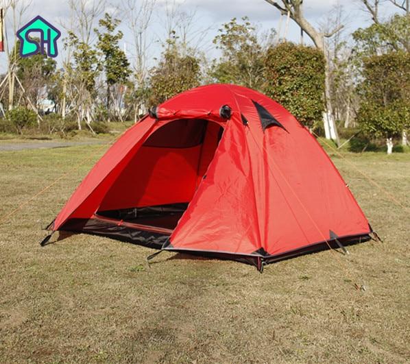 StarHome Outdoor Tent Camping 2 Person Aluminium Pole Waterproof 3000mm Hiking 2.4kg Ultralight Double Layers Tent Travel ultralight aluminium alloy camping mats
