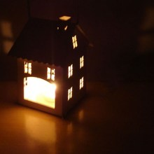 Creative Iron Small House Candle Holder Home Decorations Children Room Scene Layout Style Romantic Warm Candlestick