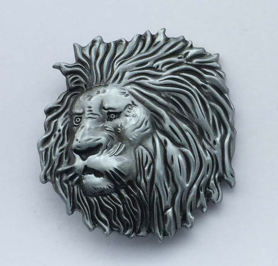 Silver Lion Head Fashion Men's Metal Belt Buckle Suitable For 4cm Wideth Belt With Continous Stock