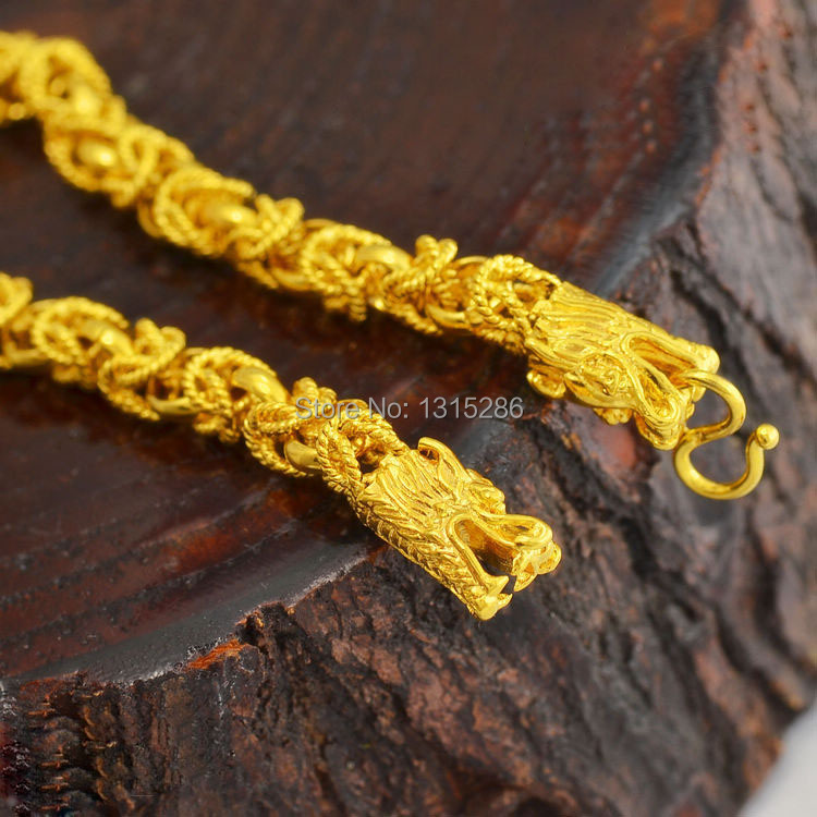 Yellow Gold 24k Necklace Mens