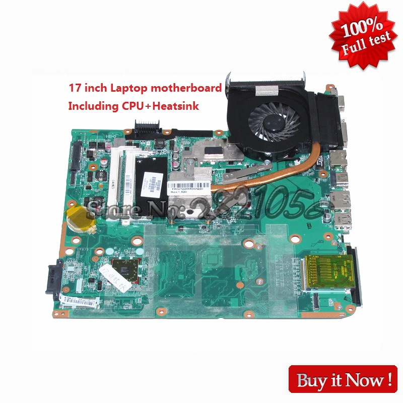 NOKOTION laptop motherboard for HP Pavilion DV7 DV7-3000 17'' 574679-001 DA0UT1MB6E1 DDR3 including cpu heatsink fan 580974 001 for hp pavilion dv7 dv7t dv7 3000 laptop motherboard tested working