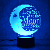 Cartoon 3D Table Lamp With 3D Effect LED Night Light Holiday Light Fun Light For Baby and Decoration Birthday Gift