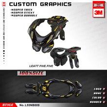 KUNGFU GRAPHICS MX наклейки Стикеры мотокросса винил обертывание самоклеющиеся для шеи Brace Leatt 5,5 2012-(Стиль № L55NB009