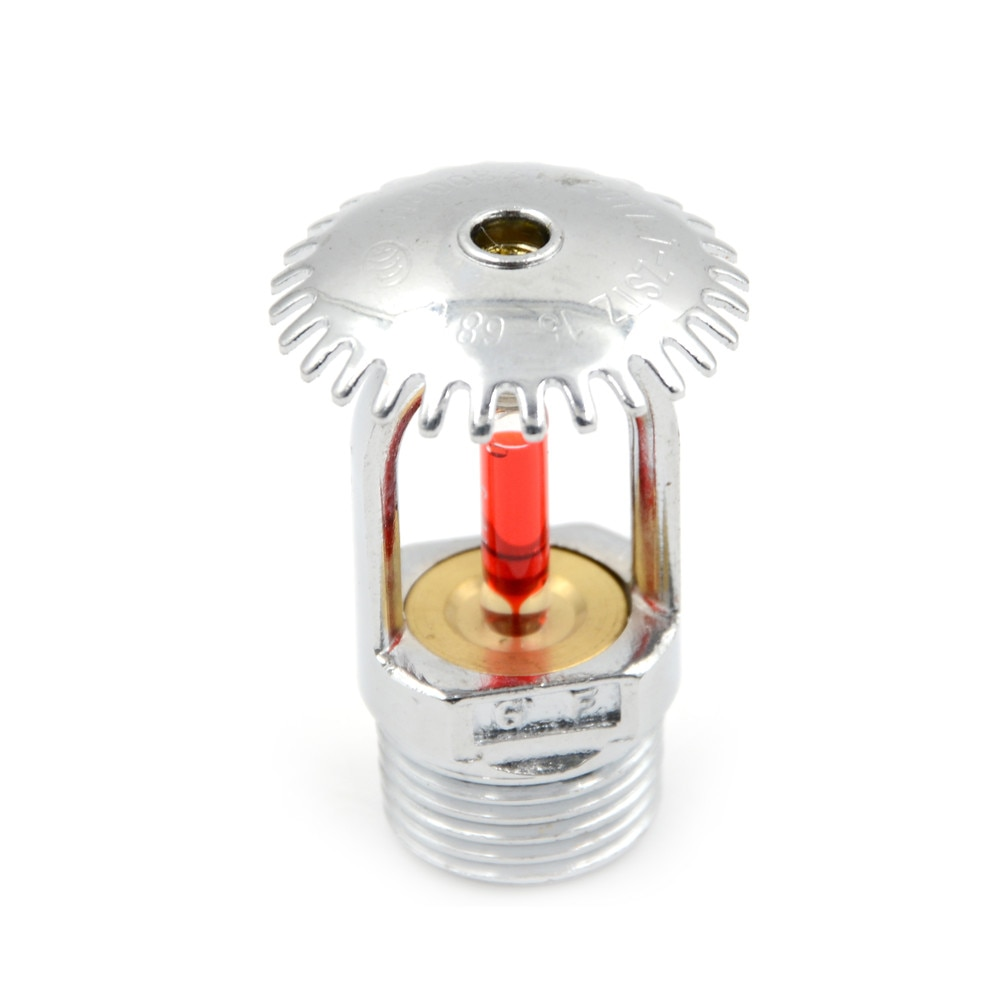 1pcs Upright Fire Sprinkler Head DN15 ZSTZ-15 For Fire Extinguishing System Protection Pendent Sprinklers 5.4x3.5cm