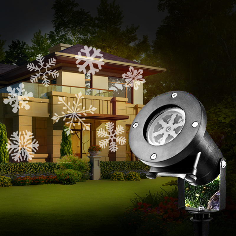 Christmas Garden Laser Light Snowflake Led Spotlight Landscape Projector Outdoor Party Lamp Garden Lawn Decoration Laser Light 12 type rgb led snowflake projector light garden landscape light lawn lamp christmas light outdoor holiday decoration spotlight