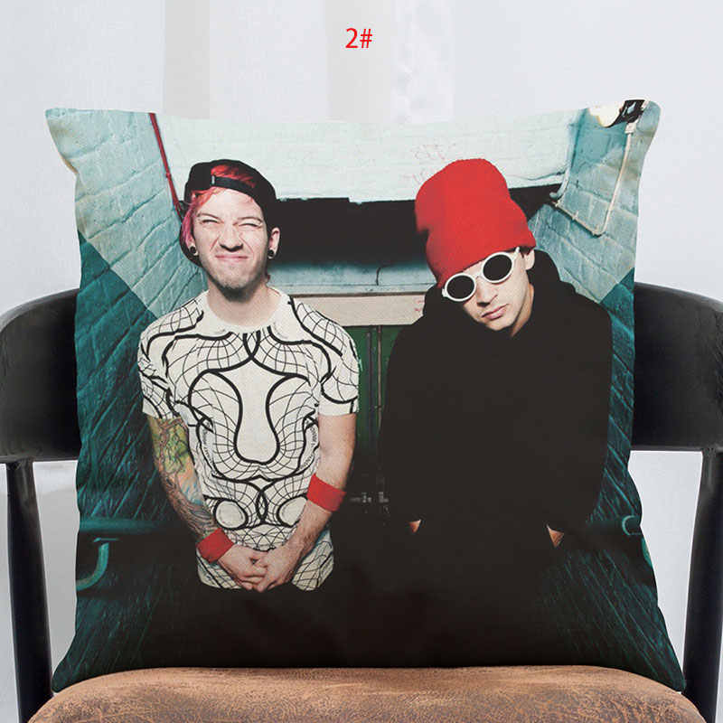 45cm*45cm Cushion Cover  print Pillow Twenty-one pilot combination Home Decorative Throw Pillow Cover