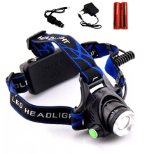 LED Headlight CREE Q5 Head lamp Torch Camping HeadLamp fishing light Flashlight Head  Linterna with AC Chargers 18650 Battery