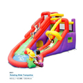 Rotating Slide Bounce house inflatable trampoline jumping bouncy castle bouncer jumper with climbing indood playground for kids