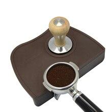 กาแฟเอสเปรสโซ Tamper MAT Silicon ยางมุมลื่นทน Pad เครื่องมือ Barista กาแฟ Tamping MAT