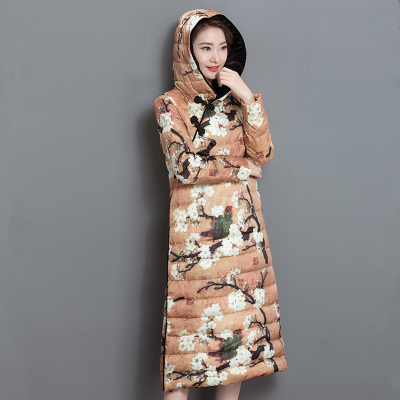 Women Winter Coat Jacket Warm Woman Parkas Female Overcoat Chinese Style Quilting Cotton Coat  2017 New Winter Collection S-2XL kuyomens women winter coat jacket 2017 autumn new woman clothes warm hooded coats parkas female overcoat soft cotton jacket