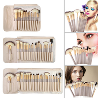 BSEL Professional Cosmetic Makeup Powder Blush Brush Set With Leather Bag