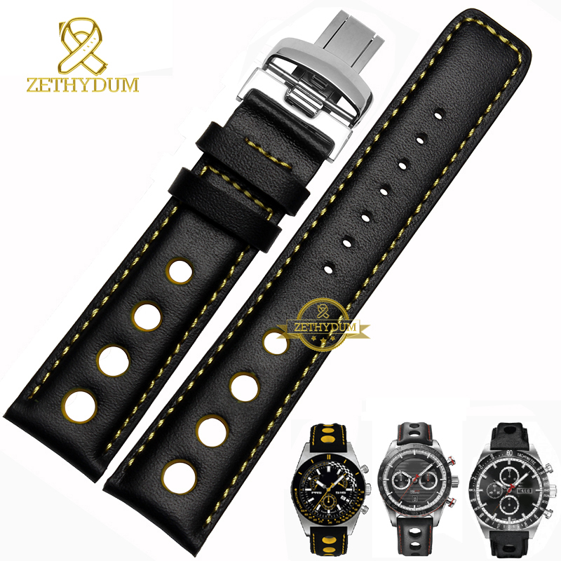 Genuine Leather Watch Strap For Tissot Watchband Wristwatch Belt Mens Leather Bracelet 20mm Sport Wristwatches Band