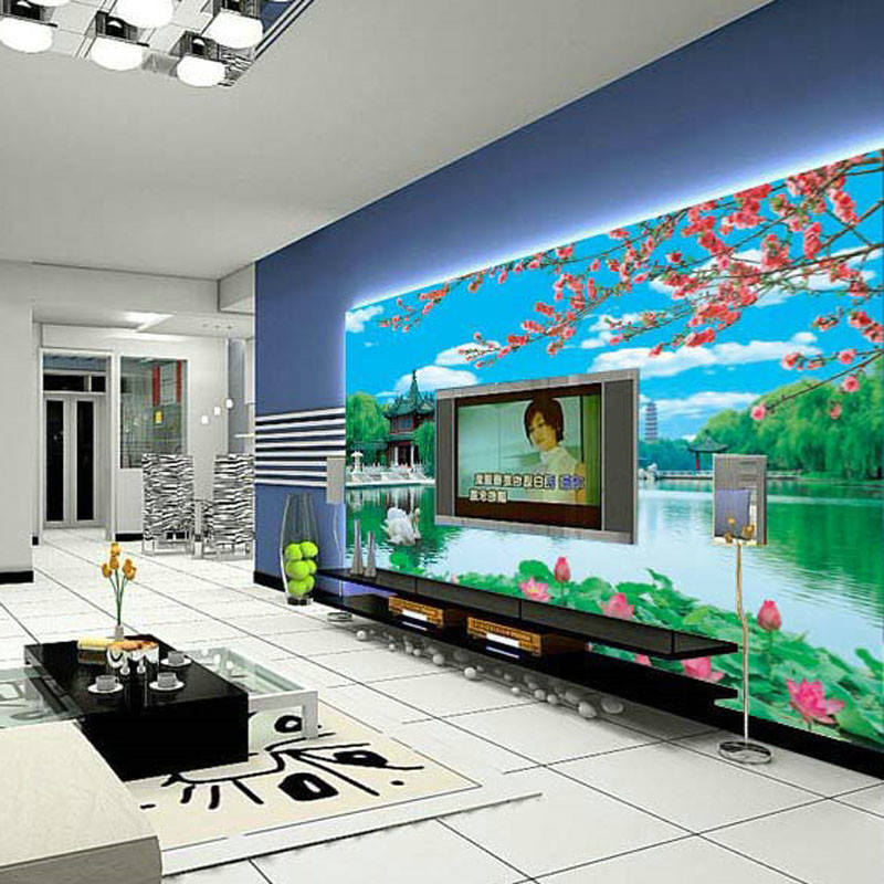 3d stereoscopic large mural custom fabric wall paper the living room sofa Chinese landscape wallpaper TV wall backdrop lotus 3d stereoscopic large mural custom wallpaper the living room backdrop bedroom fabric wall paper murals fashion romantic roses
