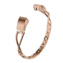X-Shaped Diamond Strap For Fitbit Alta HR Stainless Steel Metal Alloy X-shaped Wristband
