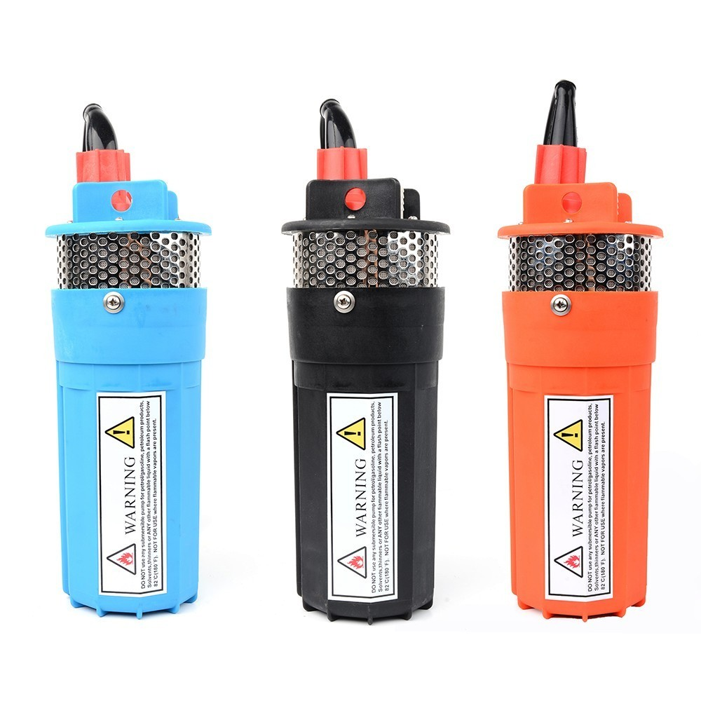 DC 12V/24V 360LPH 70M Lift,Small Submersible Solar energy Water Pump Outdoor Garden Deep Well Car Wash bilge Cleaning 12 24 v
