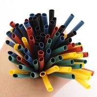 520pcs 5 Colors Mixed Polyolefin 2 1 Halogen Free Heat Shrink Tubing Tube Assortment Sleeving Wrap