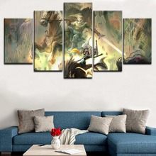 The Legend of Zelda Game HD Print Painting Modern 5 Pieces Home Wall Art Paintings on Canvas Living Room Artwork