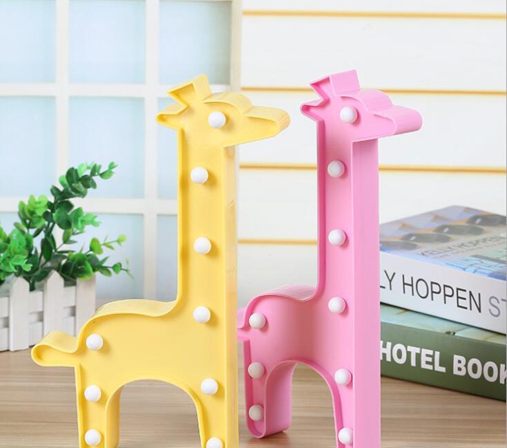 Led model lamp animal giraffe ins explosive children s room decorative lamp letter Christmas night lamp