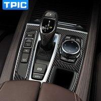 For Bmw F15 F16 Carbon Fiber Stickers Decorative Cover Trim Strip For Car Control Gear Shift