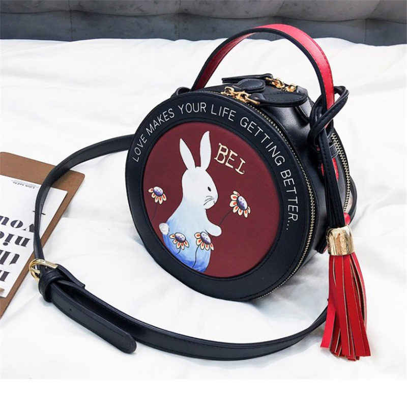 Bag 2018 Fashion New Handbag High quality PU Leather Shiny Cute Round Bag Shoulder luxury mobile Messenger Bags mini women bags