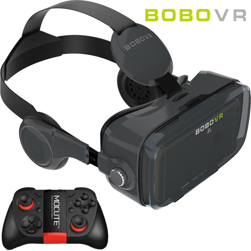 BOBOVR Z4 MINI <font><b>VR</b></font> Box With Bluetooth Headset Virtual Reality 3D <font><b>VR</b></font> <font><b>Glasses</b></font> Google Cardboard For 4.7-6.0 Inch Smartphone