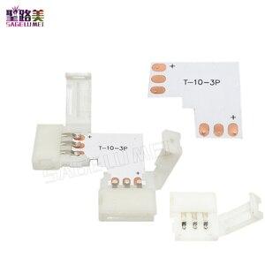 Светодиодный коннектор в форме L, 10 шт., 2 pin/3 pin/4 pin/5pin, Без припоя, для 8 мм/10 мм/12 мм 5050/ws2811/ws2812b RGB/ RGBW/ WW SMD СВЕТОДИОДНЫЙ