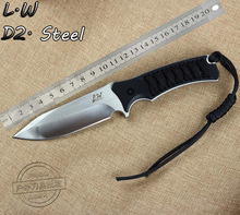 LW Outdoor Camping knife Tactical Hunting Survival Multi Function Tools (Leeway) (Explorers) straight (D2 HSS) Free Shipping