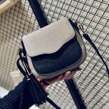 Бесплатная доставка, 2019 новый тренд женские сумки, Ретро Простой клапан, модная сумка, с кисточкой с узорами женская сумка.