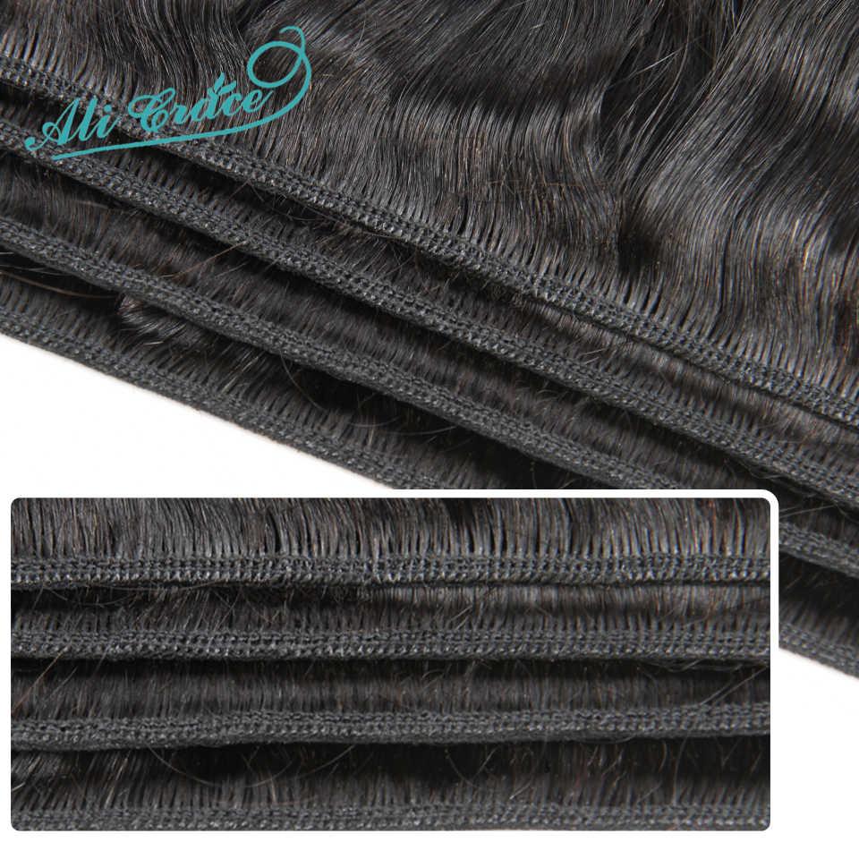 ALI GRACE Haar Indische Losse Golf 3 Bundels Deal Menselijk Haar Natuurlijke Kleur Remy Hair Extensions 10-28 Inch gratis Verzending
