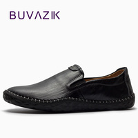 2018 Spring New Slip On British Style Casual Shoes Men Low Retro Men S Loafers Handmade