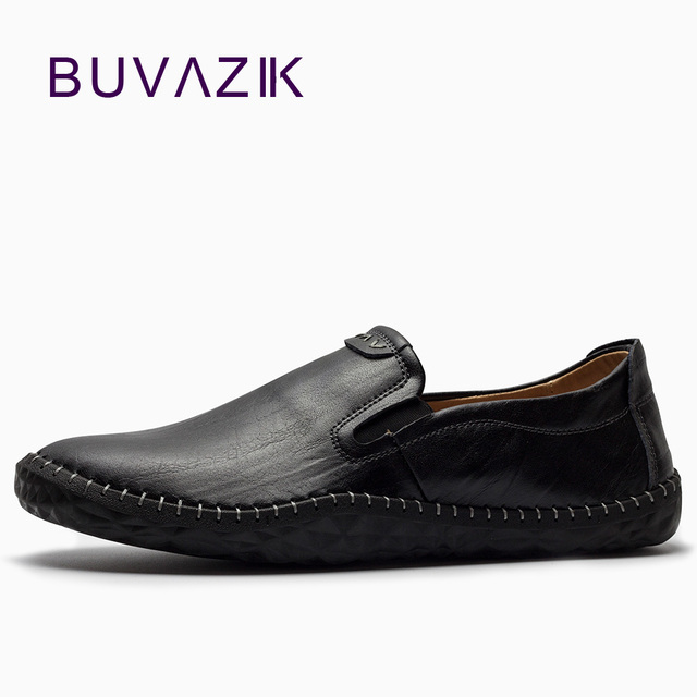 Men's Leather Slip-on Loafers Low Shoes